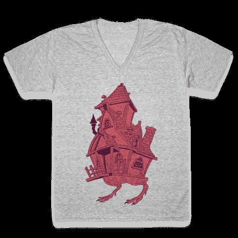 Baba Yaga's House V-Neck Tee Shirt