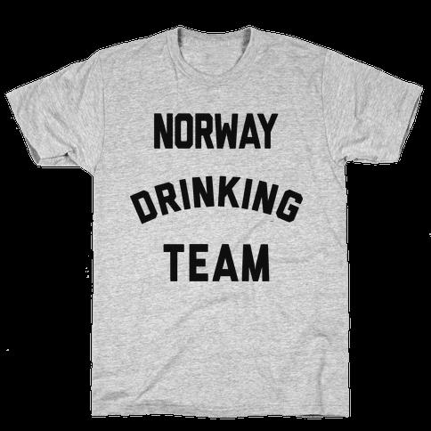 Norway Drinking Team Mens T-Shirt