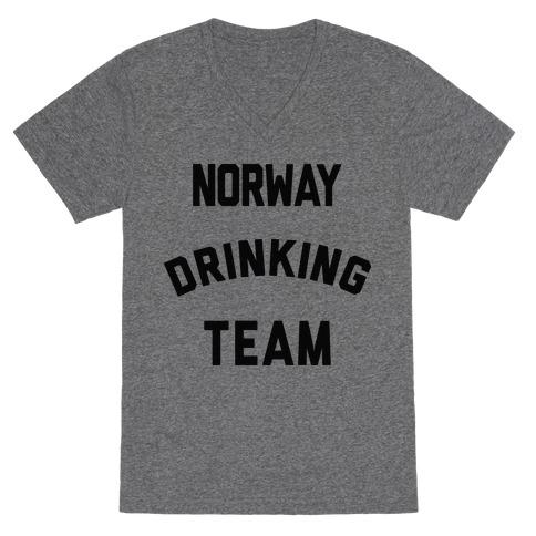 Norway Drinking Team V-Neck Tee Shirt