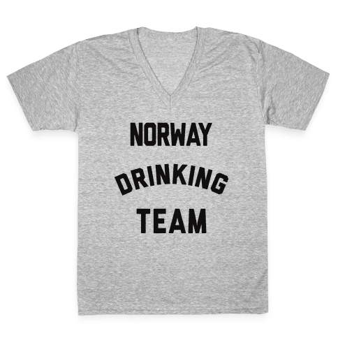 Norway Drinking Team V-Neck Tee Shirt