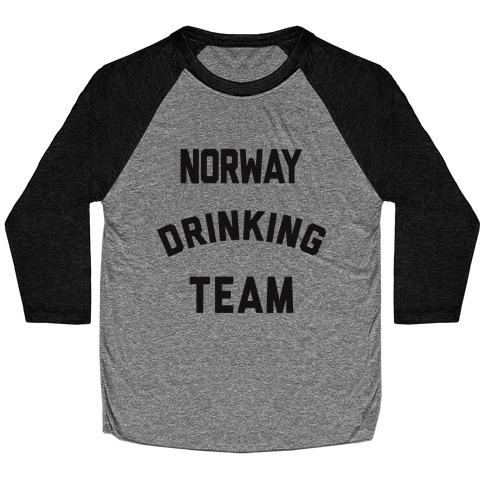 Norway Drinking Team Baseball Tee