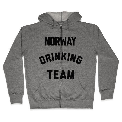 Norway Drinking Team Zip Hoodie