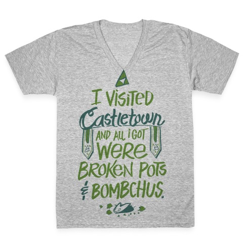 I Visited Castletown And All I Got Were Broken Pots and Bombchus V-Neck Tee Shirt