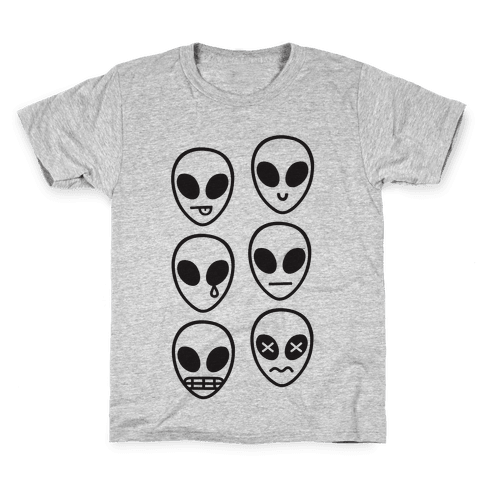 Alien Emojis Kids T-Shirt