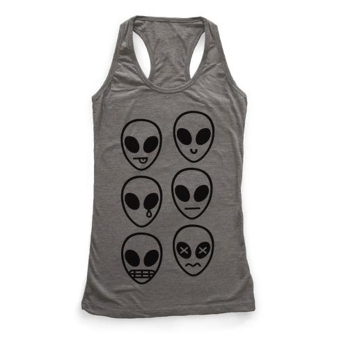 Alien Emojis Racerback Tank Top