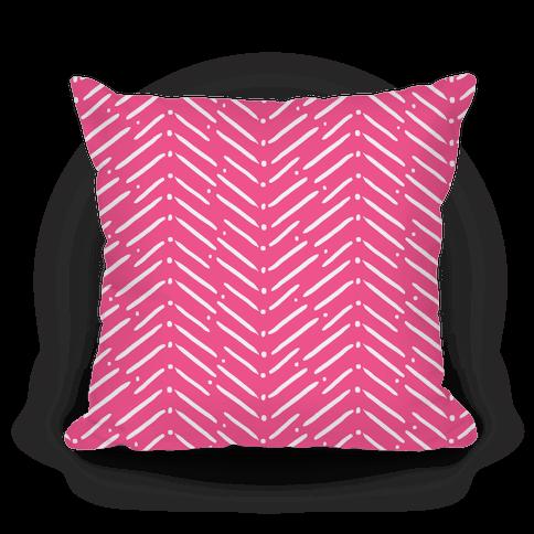 Pink Tribal Doodle Pattern