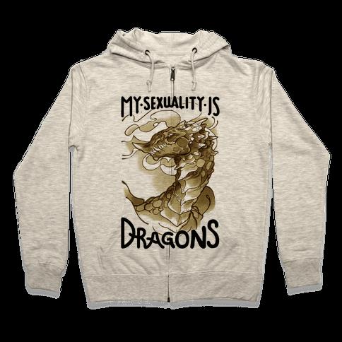 My Sexuality Is Dragons Zip Hoodie