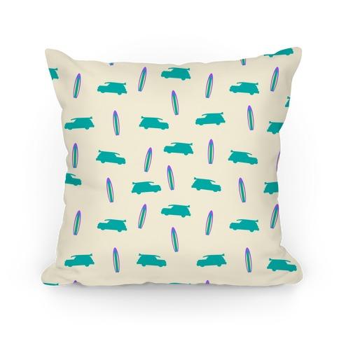 Surf Car Pattern Pillow