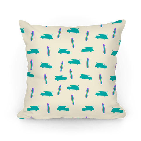 Surf Car Pattern Pillow