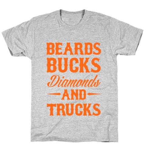 Beards, Bucks, Diamonds and Trucks T-Shirt