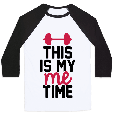 This Is My Me Time (Black & Red) Baseball Tee