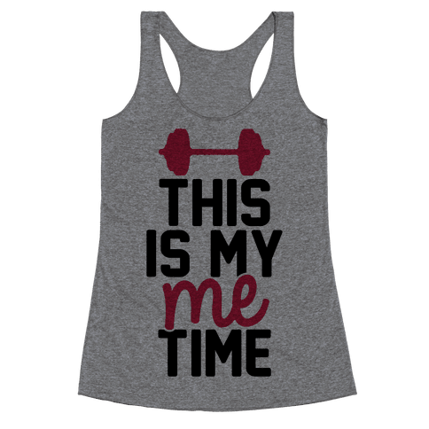This Is My Me Time (Black & Red) Racerback Tank Top