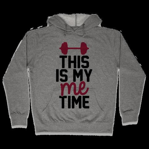 This Is My Me Time (Black & Red) Hooded Sweatshirt