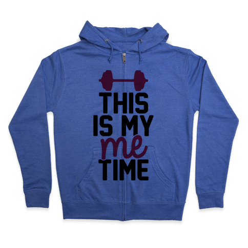 This Is My Me Time (Black & Red) Zip Hoodie
