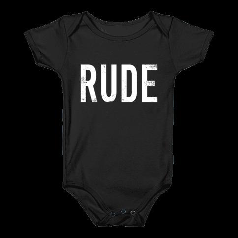 RUDE Baby Onesy