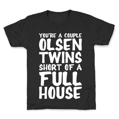 A Couple Olsen Twins Short Kids T-Shirt