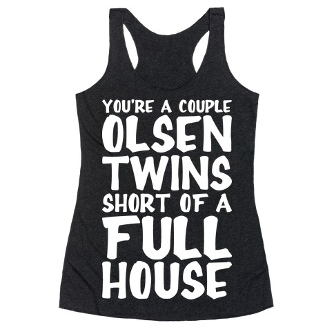 A Couple Olsen Twins Short Racerback Tank Top