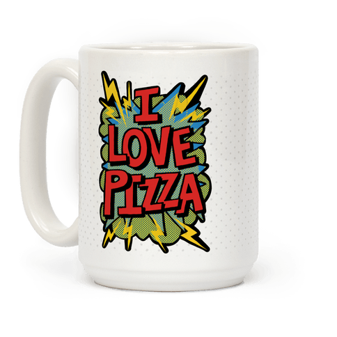 I Love Pizza Pop Art