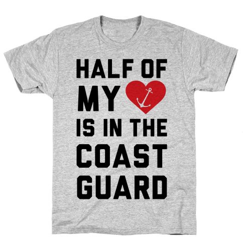 Half My Heart Is In The Coast Guard Mens T-Shirt