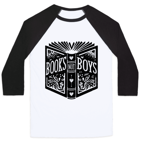 Books Not Boys Baseball Tee