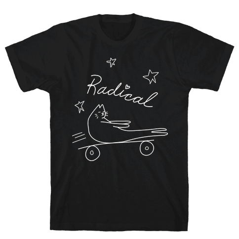 Chill Skateboarding Cat Mens T-Shirt