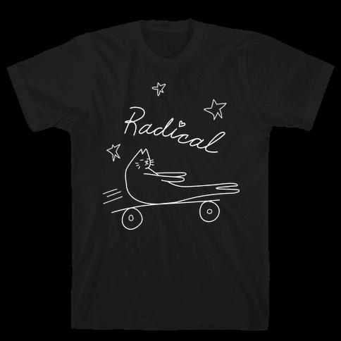Chill Skateboarding Cat Mens T-Shirt