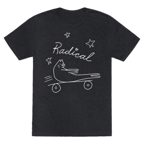 Chill Skateboarding Cat
