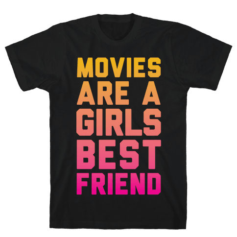 Movies Are a Girls Best Friend Mens T-Shirt