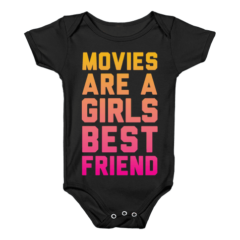 Movies Are a Girls Best Friend Baby Onesy