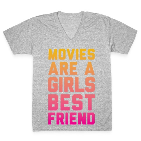 Movies Are a Girls Best Friend V-Neck Tee Shirt