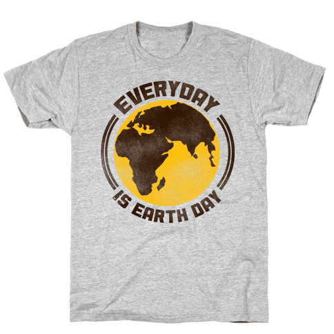 Earth Day Mens T-Shirt