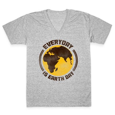 Earth Day V-Neck Tee Shirt