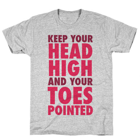 Head High, Toes Pointed (V-Neck) Mens T-Shirt