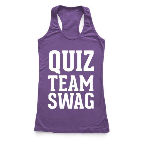 Quiz Team Swag Racerback Tank Top