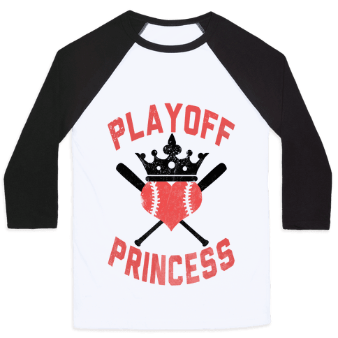 Playoff Princess Baseball Tee
