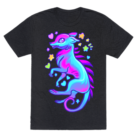 Neon Rainbow Chupacabre Mens T-Shirt