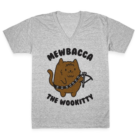 Mewbacca the Wookitty V-Neck Tee Shirt