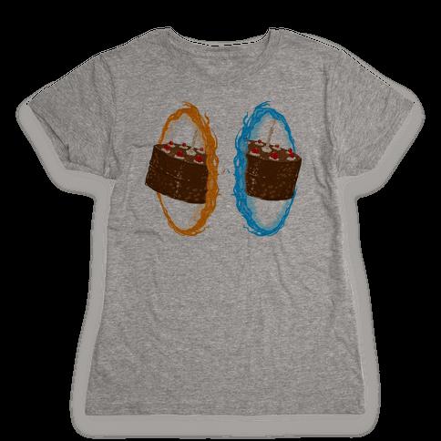 Portal Cake Womens T-Shirt