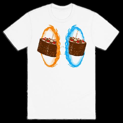 Portal Cake Mens T-Shirt