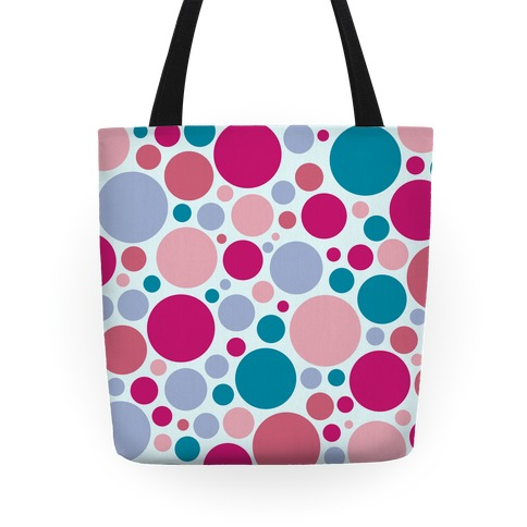 Circle Pattern Tote (Blue) Tote