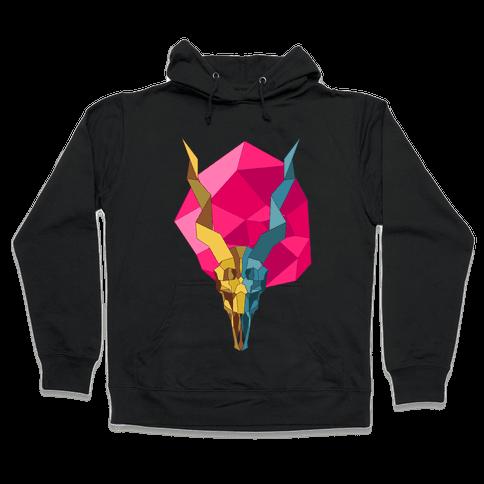 Geometric Blackbuck Skull Hooded Sweatshirt