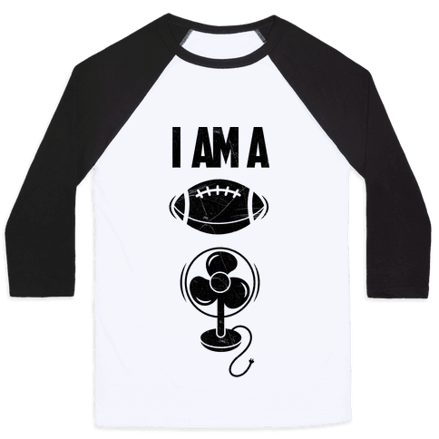 Football Fan Baseball Tee