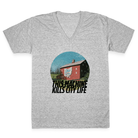 Country Life Kills City Life V-Neck Tee Shirt