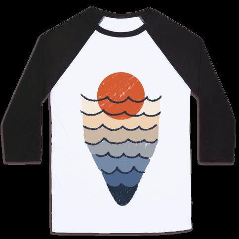Ocean Sketch Baseball Tee