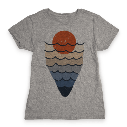 Ocean Sketch Womens T-Shirt