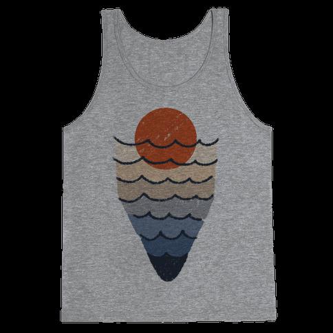 Ocean Sketch Tank Top