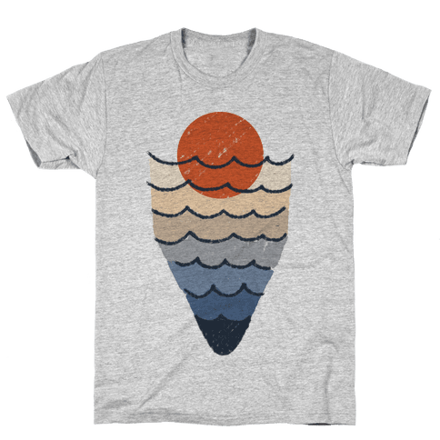 Ocean Sketch Mens T-Shirt