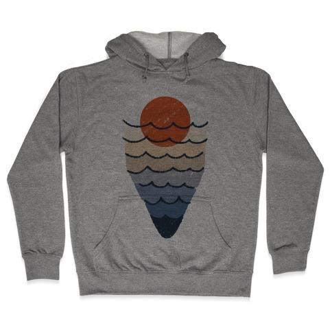 Ocean Sketch Hooded Sweatshirt