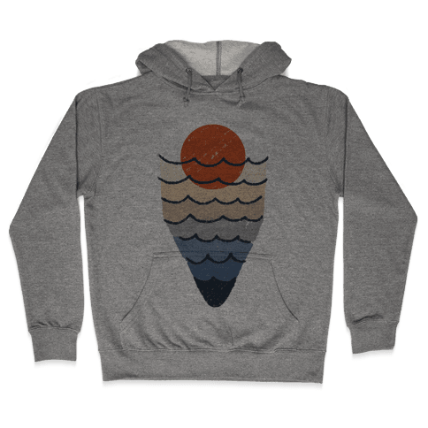 Ocean Sketch Hooded Sweatshirt