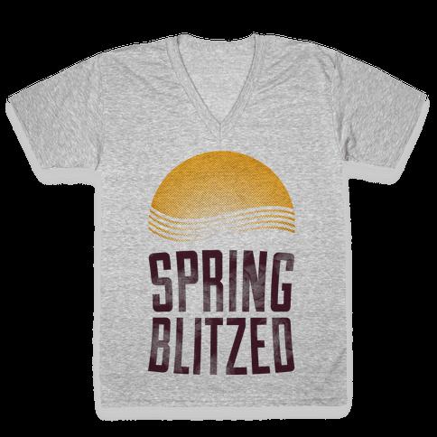Spring Blitzed V-Neck Tee Shirt